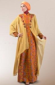 gamis batik kombinasi elegan