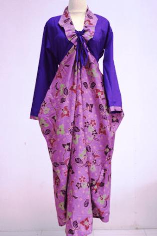 Model Gamis Batik Kombinasi Kain Polos Terbaru Archives Pusat