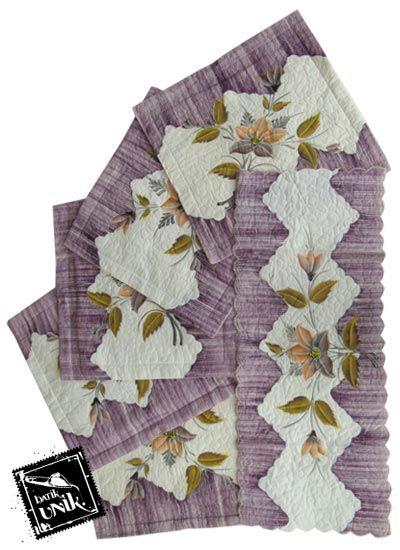 Sarung Bantal Kursi Batik Motif Batik Lukis Bunga  Set