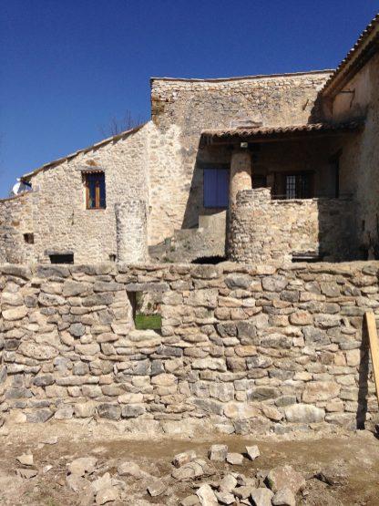 mur pierre, mortier chaux
