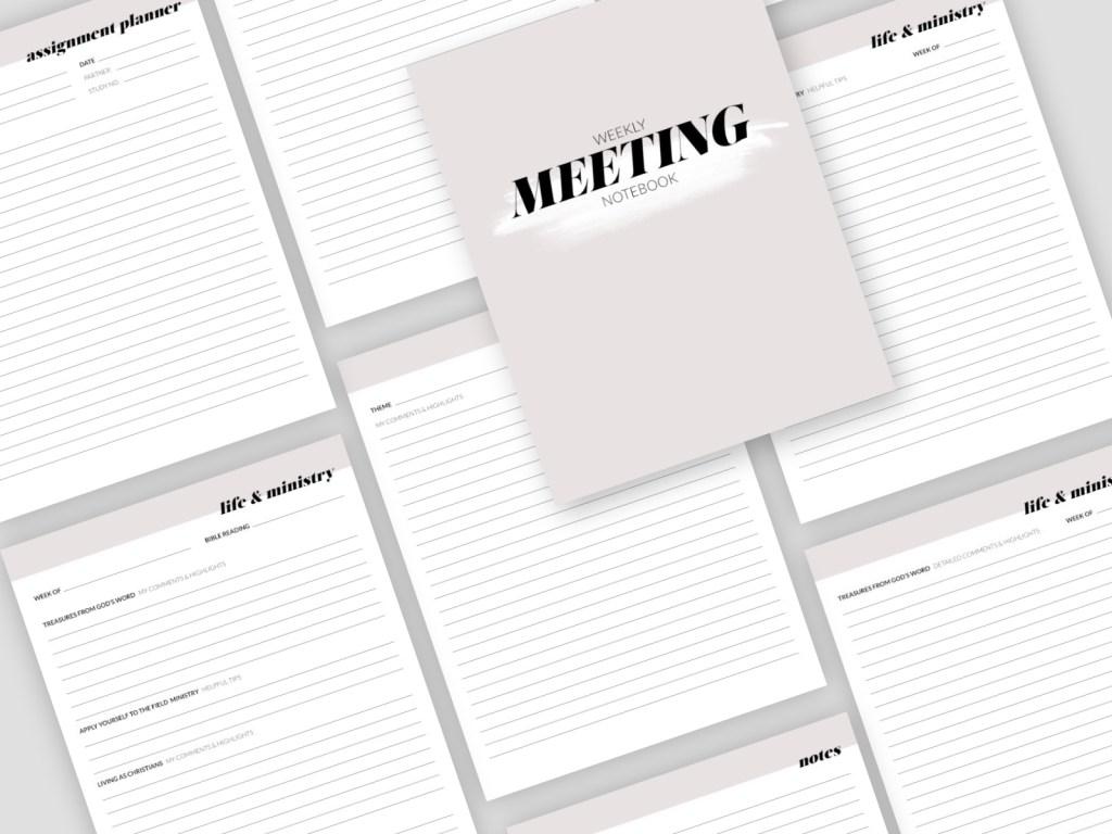 WEEKLY MEETINGS // complete digital notebook