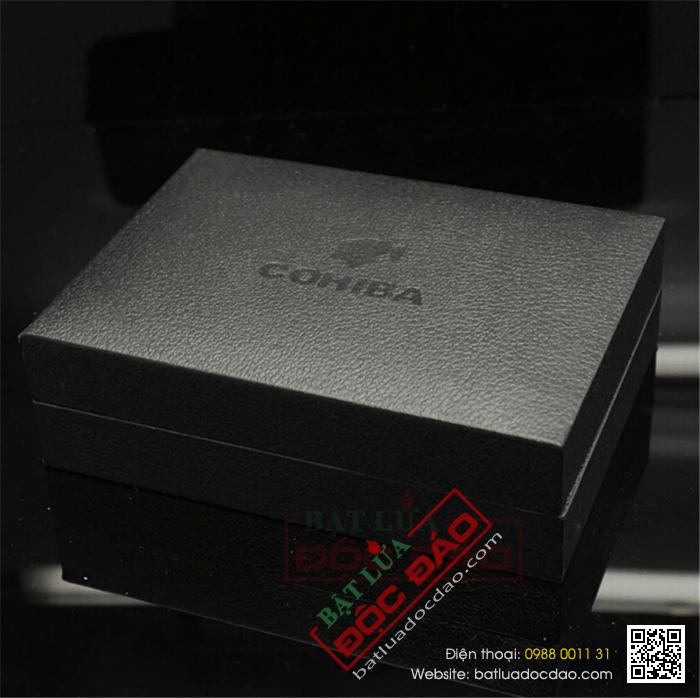 Bật lửa khò hút Cigar (xì gà) Cohiba chính hãng loại 3 tia lửa có thiết bị đục Cigar - Mã SP: BLH091