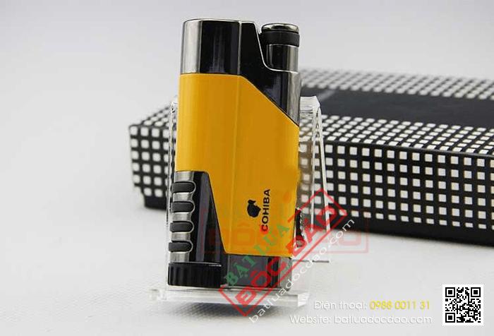 Bật lửa khò hút Cigar (xì gà) Cohiba chính hãng loại 1 tia lửa có thiết bị đục Cigar - Mã SP: BLH096