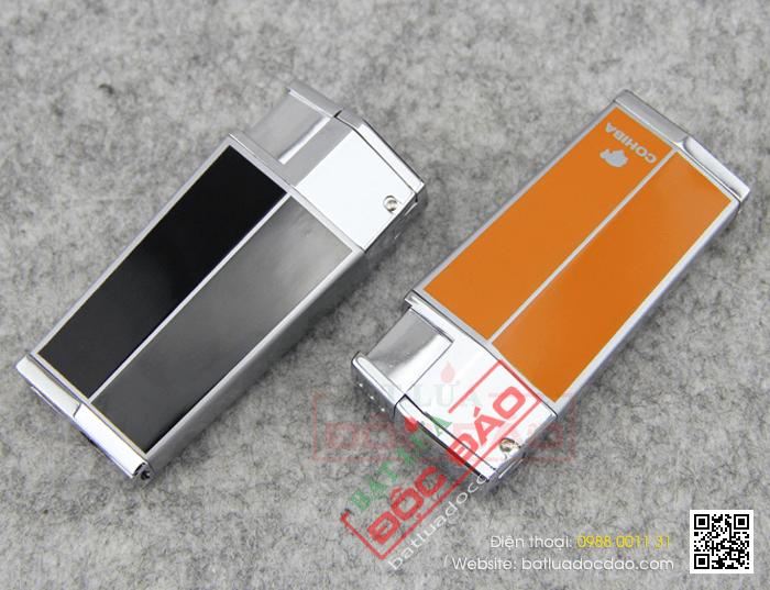 Bật lửa khò hút Cigar (xì gà) Cohiba chính hãng loại 3 tia lửa, có thiết bị đục lỗ Cigar - Mã SP: BLH043