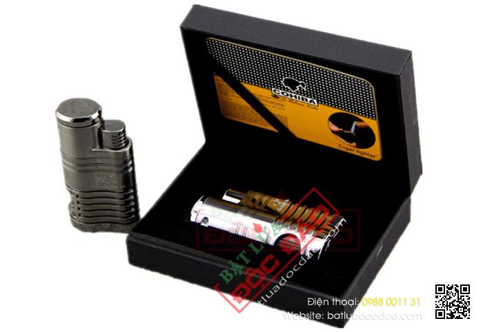 Bật lửa khò hút Cigar Cohiba chính hãng loại 4 tia lửa cực mạnh - Mã SP: BLH095