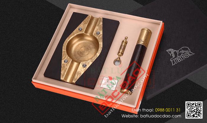 Set gạt tàn xì gà (Cigar), ống đựng xì gà (Cigar), đục xì gà Lubinski - Mã SP: T25
