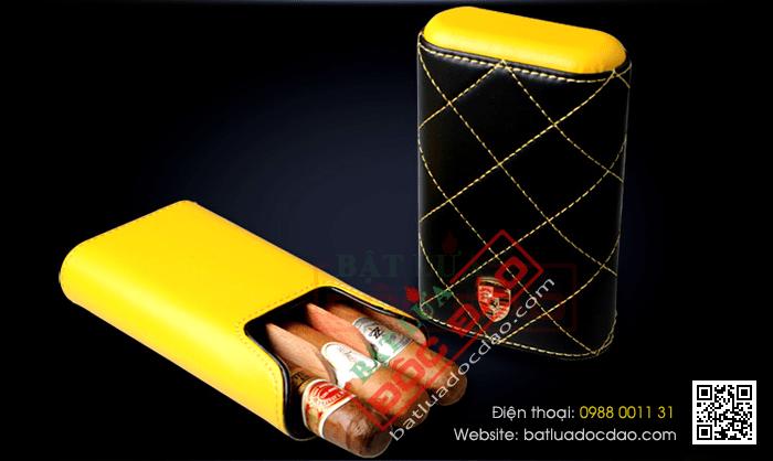 Bao da đựng Cigar Cigarloong chính hãng loại 3 điếu - Mã SP: 1004L