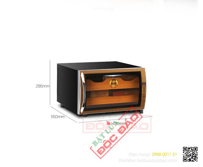 Tủ bảo quản Cigar (xì gà) cắm điện 2 tầng cao cấp - Mã SP: H727