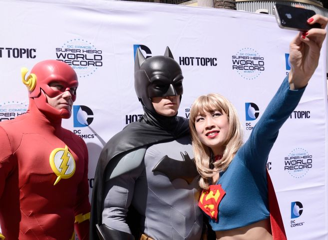 DC Comics Super Hero World Record Event