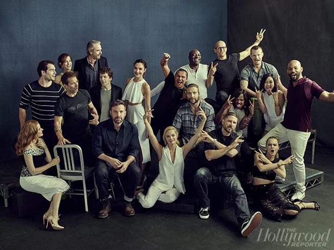 39 batman v superman 39 and 39 suicide squad 39 cast photo makes up the new dc extended universe. Black Bedroom Furniture Sets. Home Design Ideas