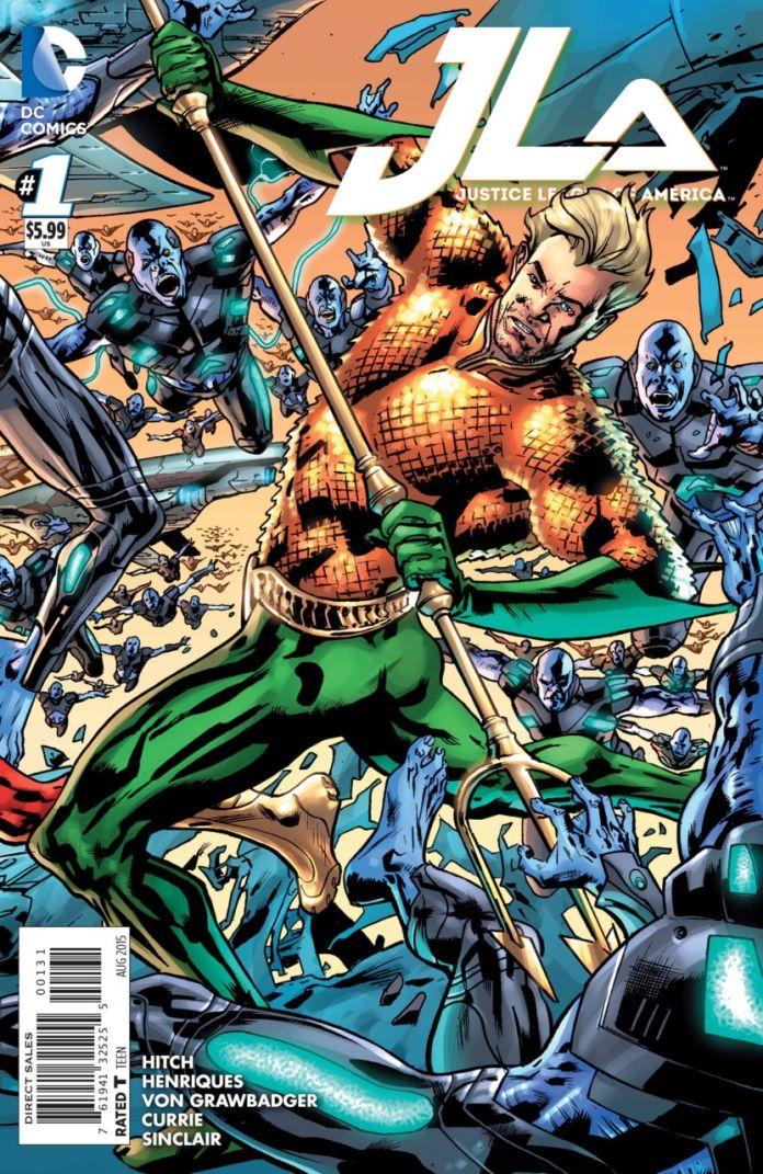 JLA 1 by Brian Hitch (Aquaman)