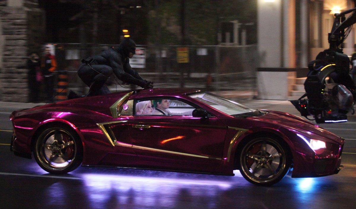 Infiniti G35 Vaydor >> Behind-the-scenes look at Jared Leto's Joker car in 'Suicide Squad' (video) - Batman News