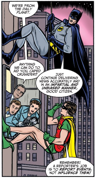 And Batman being a square, but we'll no doubt see more of that.