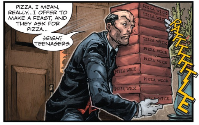 If you don't take delight in Alfred carrying a dozen pizza boxes then I can't help you.