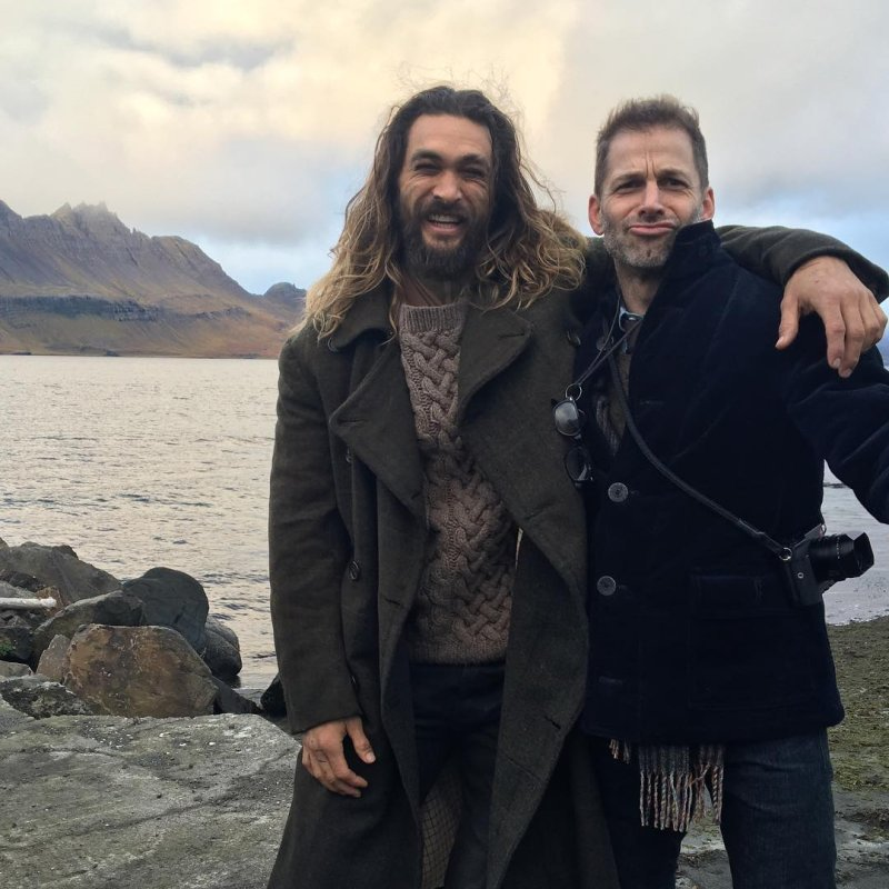 Jason Momoa And Zack Snyder Pose In Iceland For 'Justice