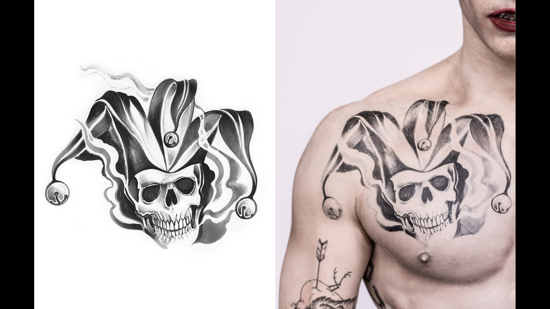 Get a detailed look at Jared Leto's Joker tattoos for ...