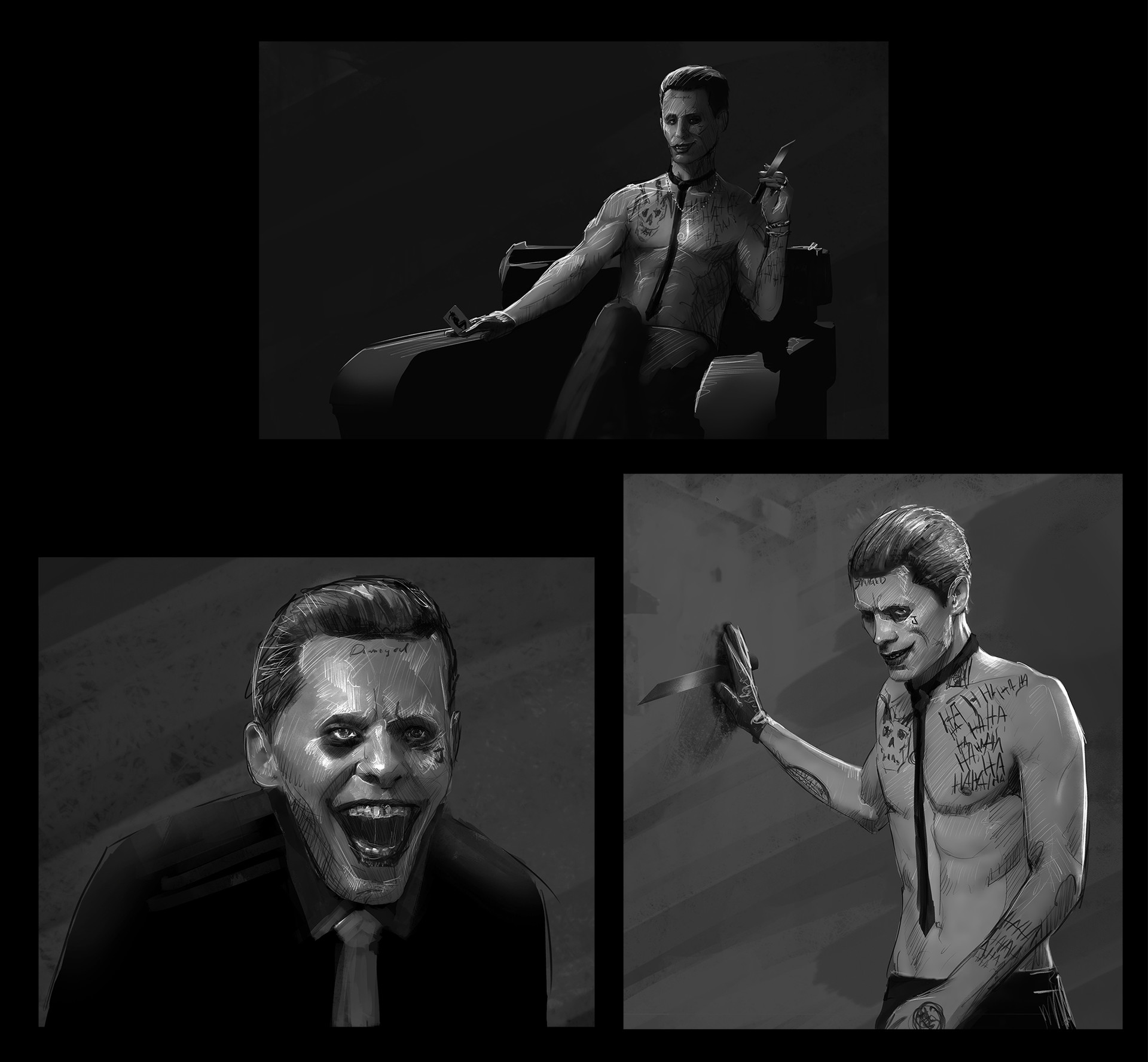 andrew-hunt-suicide-squad-joker-sketches