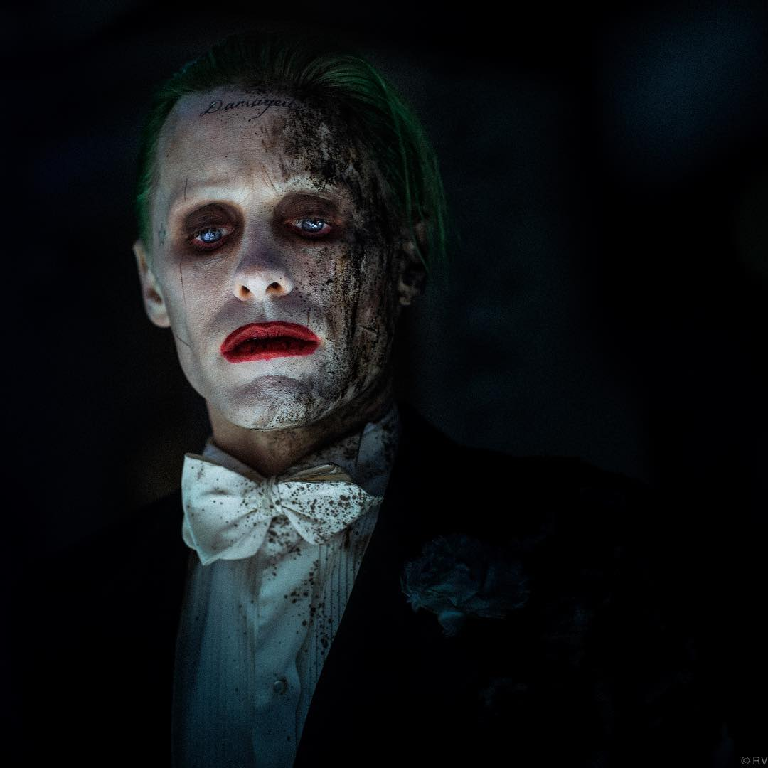 New look at Jared Letos Joker from a deleted Suicide Squad