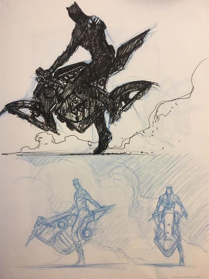 Justice League Production Designer Shares Sketches Of Batman S Unused Motorcycle Batman News The justice league is a team of comic book superheroes in the dc comics universe. justice league production designer