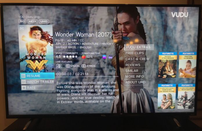Review: Watching 'Wonder Woman' and DC movies in 4K HDR on