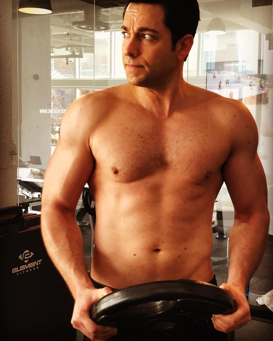 Zachary Levi Shazam Superhero Body