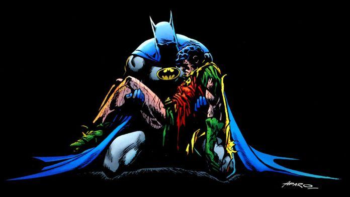 Batman Holding Jason Todd