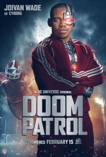 Doom Patrol - Official Images - Character Posters - Joivan Wade - Cyborg - 01