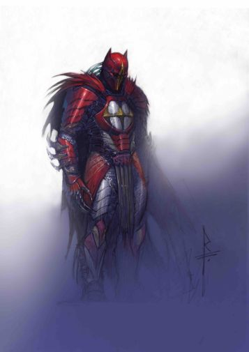 Azrael concept frontal full figure color study Federici_5d2c7e9ae3bb08.93550083