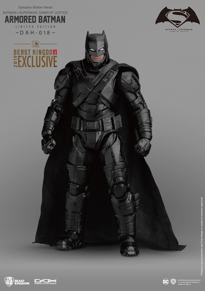 Beast Kingdom 1//9 Batman V Superman DAH-018 Armored BATMAN FIGURE San Diego comic-con 2019