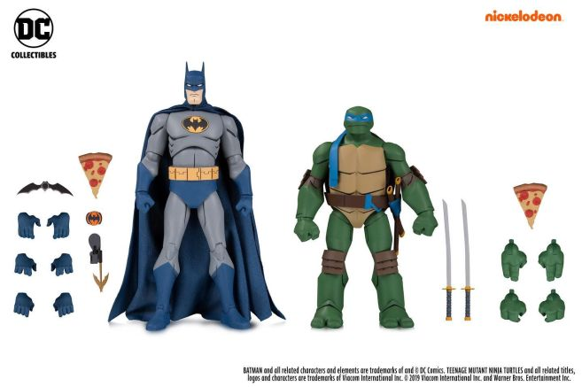DC Collectibles - SDCC 2019 Exclusives - Batman vs TMNT - Batman and Leonardo - 01