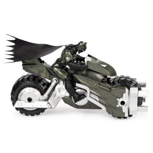 Spin Master - DC - Batman 4-Inch Batcycle with Batman and Clayface Figures - 01