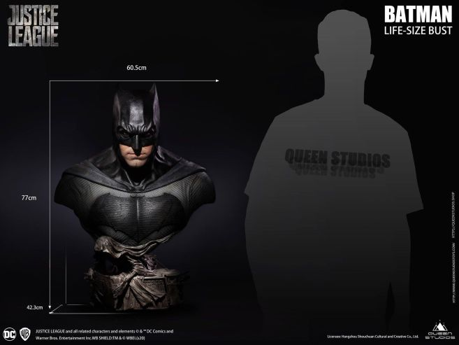 Queen Studios - Justice League - Batman - Life-Size Bust - 29