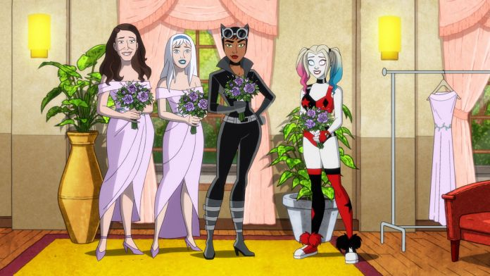 Harley Quinn, Catwoman, Nora Fries, and Jen