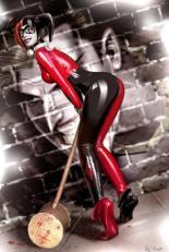 Harley Queen disegnata  da Raffaele Marinetti.