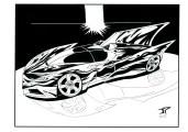 Concept art della Batmobile di Jonathan  Piccini