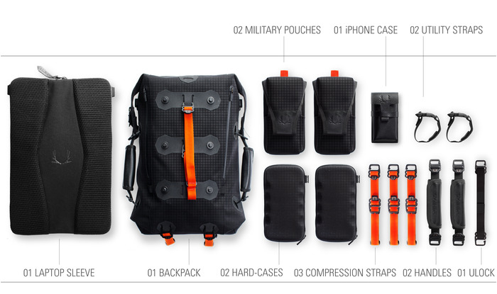 Ember Modular Backpack accessories