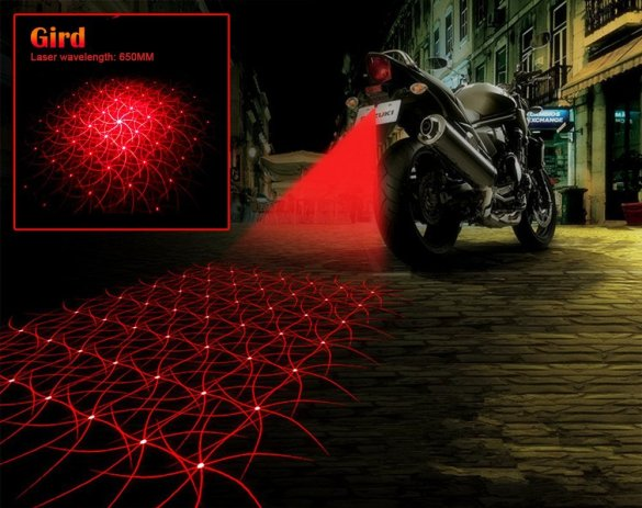 Anti Collision laser tail light motorcycle