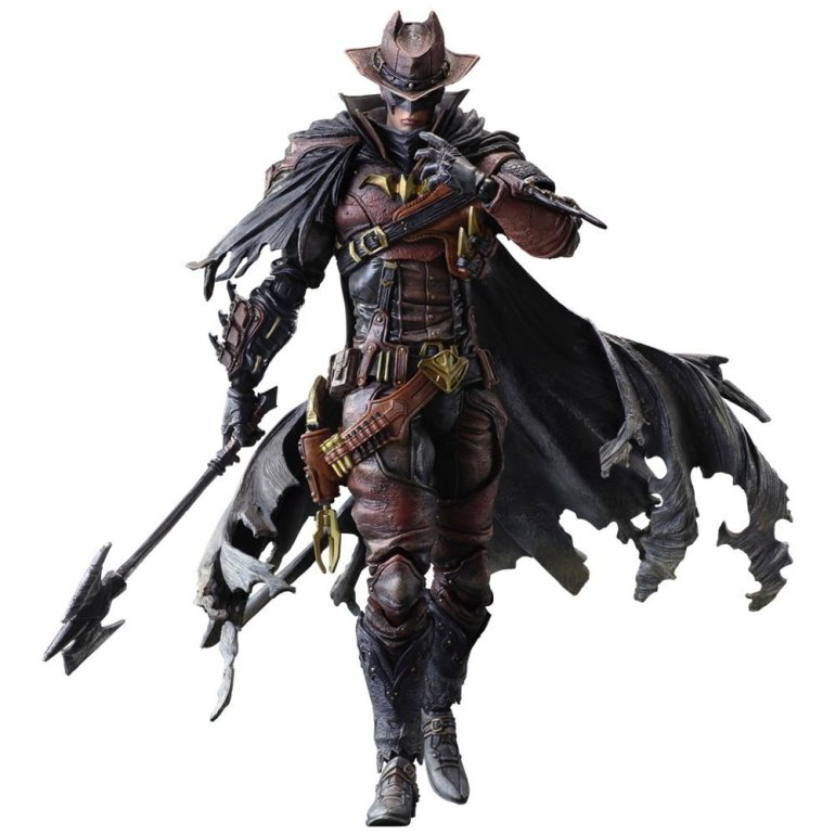 wild west play arts kai batman action figure