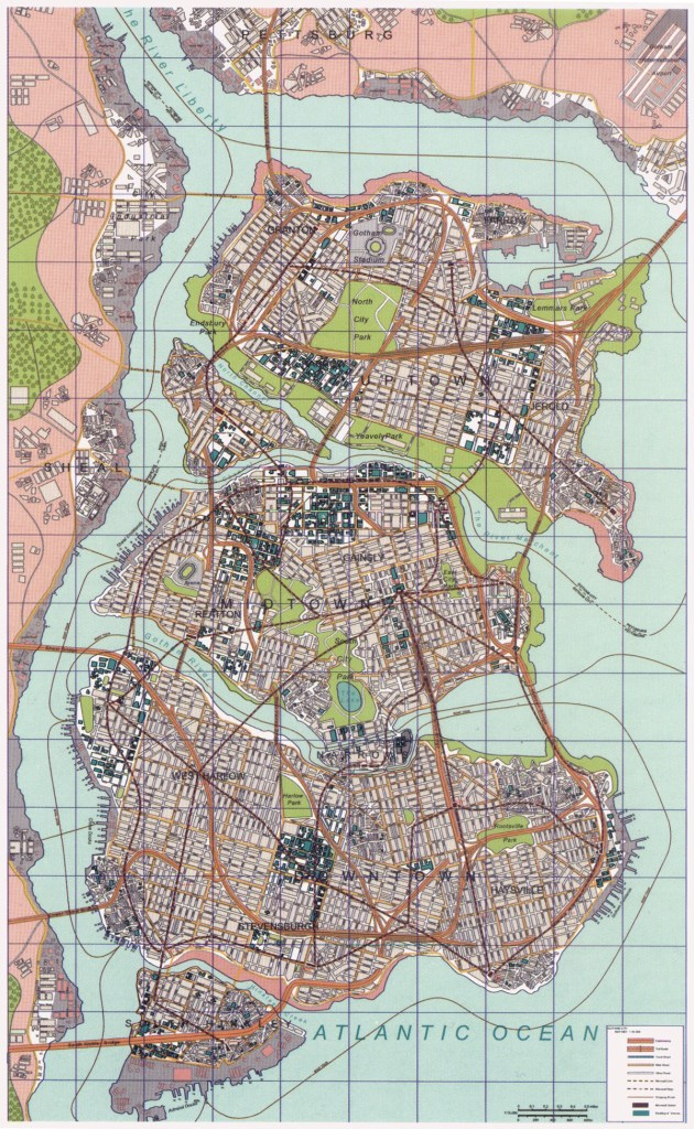 Gotham City map