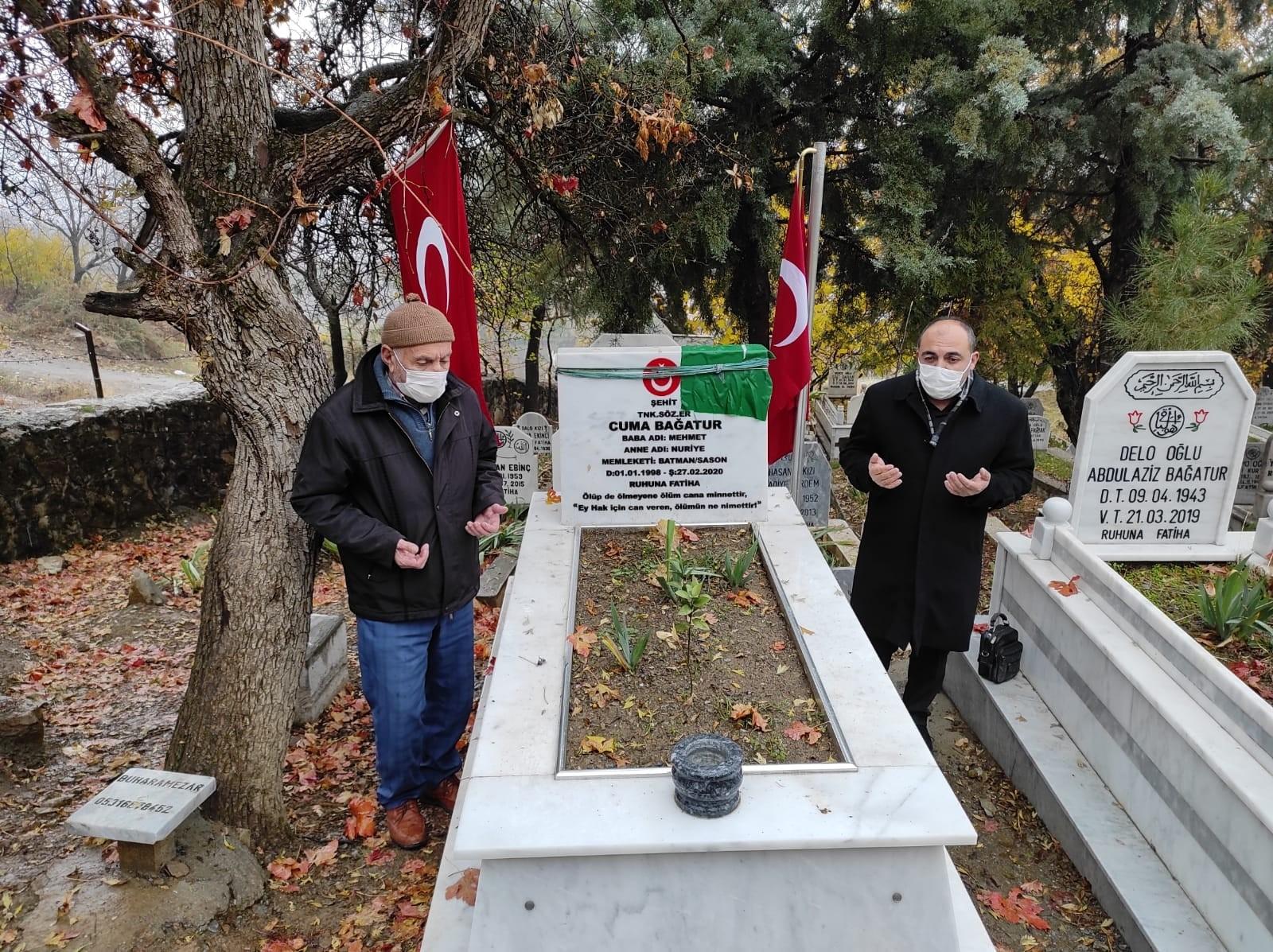 Şehit yakınlarından mezarlıklara buruk ziyaret
