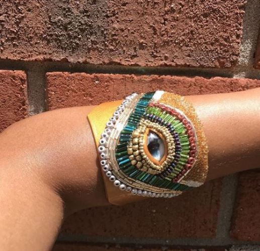 Okoye Couture- Hand sculpted and beaded Clay Jewelry
