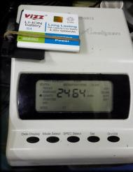 Tes baterai samsung Gal S4 Vizz 5200mAh, hasil tes 2464