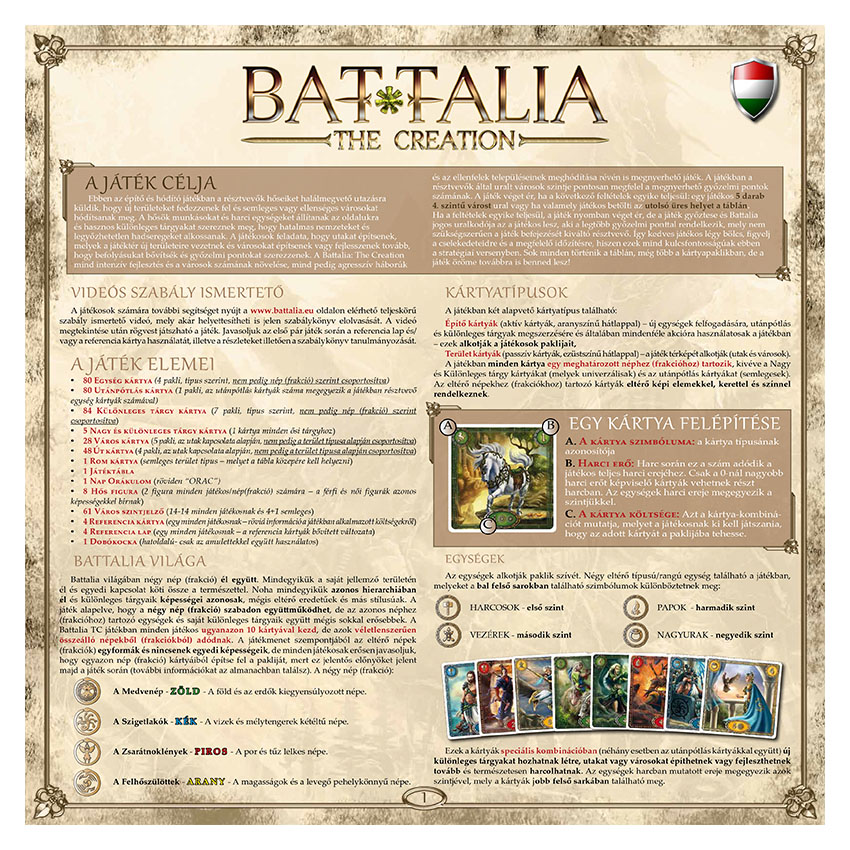 BATTALIA - RULEBOOK OLD - HUNGARIAN - WEB v1.0