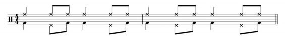 Samba grosse caisse et cymbale rythmique