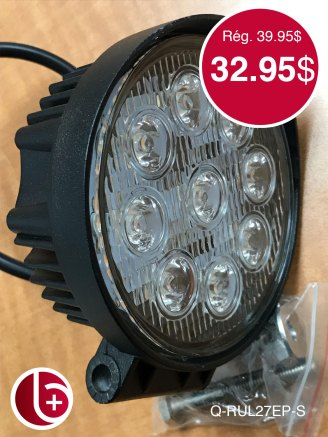Phare rond 42 w 3150 lumen SPOT. 1 en stock