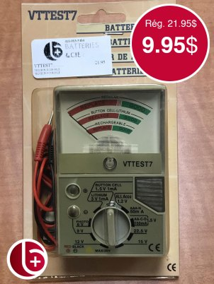 Testeur de batterie. 1 en stock