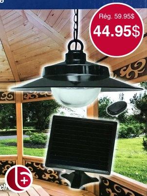 Lumière solaire suspendu avec télécommande, super pour la terrasse. 2 en stock