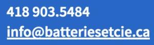 courriel batteries et cie info@batteriesetcie.ca