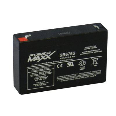 SB675S batterie 6 volt alarme