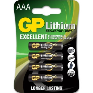 GP Batteries Primary Lithium AAA - 4 batterijen